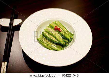 Chinese Okra Dish