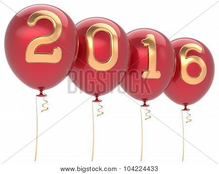 New Years Eve 2016 Party Balloons Christmas Decoration Red