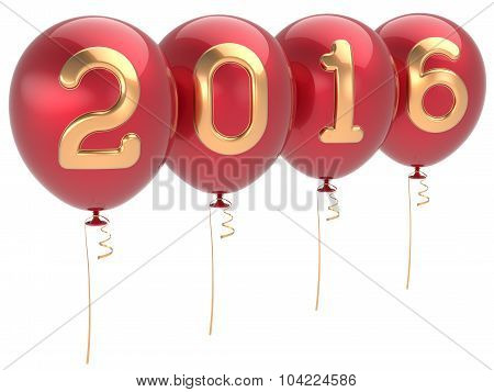 2016 New Years Eve Party Balloons Christmas Decoration Red