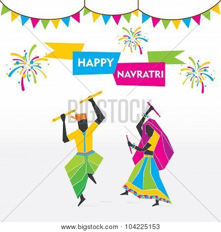 happy navratri festival celebrate design