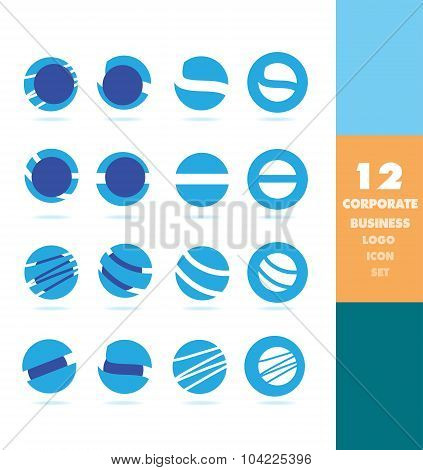 Corporate Business Circle Logo Set
