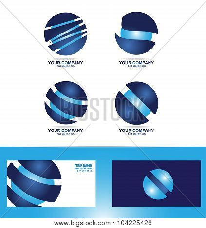 Corporate Sphere Logo Icon Set