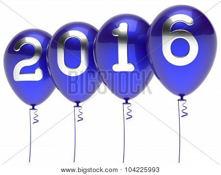 2016 New Years Eve Balloons Wintertime Party Decoration Blue