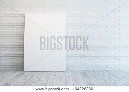 white room with blank picture