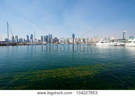 Beautiful Harbor Skyline Of Qingdao
