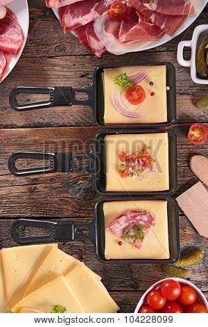 cheese, delicatessen and potato