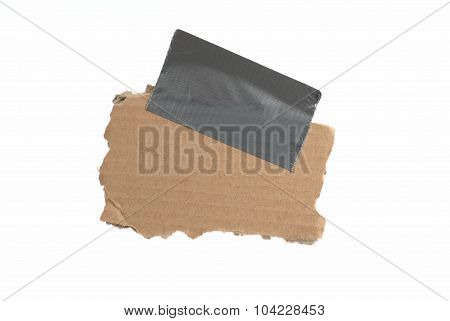Isolated Cardboard With Sticky Tape
