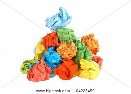 Colourful Crumpled Paper Balls
