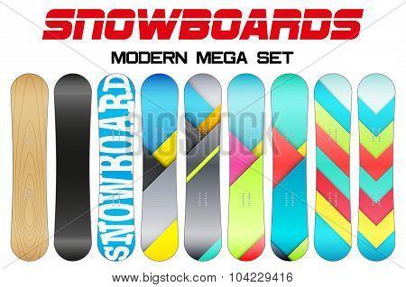 Set of Snowboards sample symbols