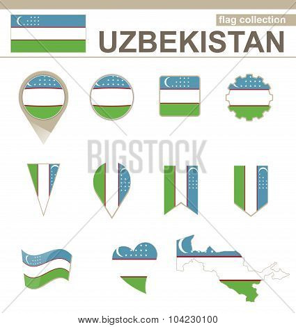 Uzbekistan Flag Collection