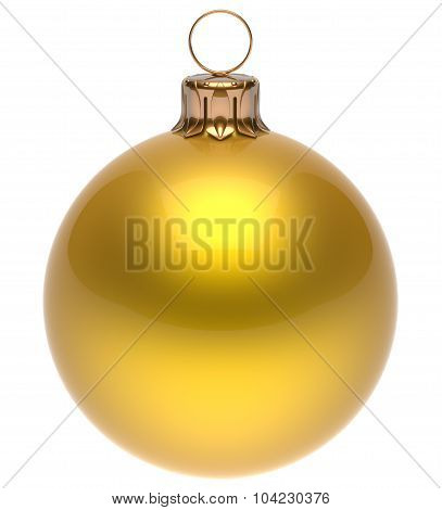 Christmas Ball Yellow New Year's Eve Bauble Winter Decoration