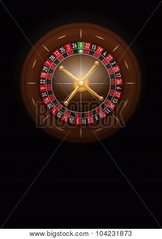 Dark Background of casino roulette. Vector Illustration.