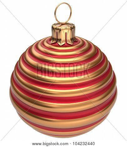 Christmas Ball New Year's Eve Decoration Bauble Golden Red