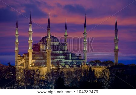 The Blue Mosque (Sultanahmet Mosque) in Istanbul Turkey