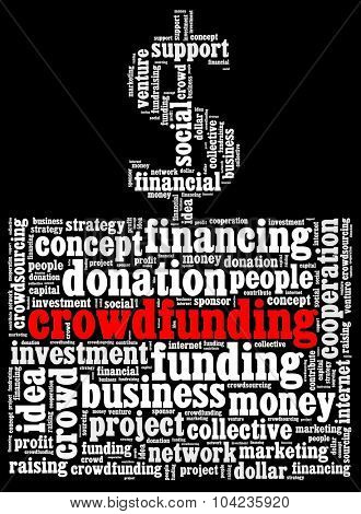 Crowdfunding in word collage