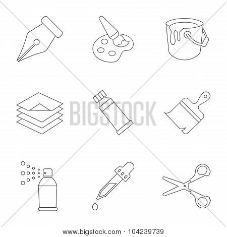 Art line vector icons