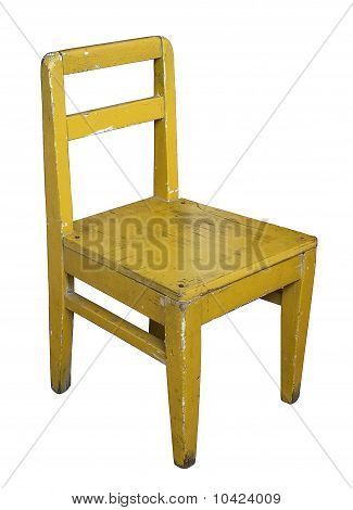 Childrens Old Painted  Chair