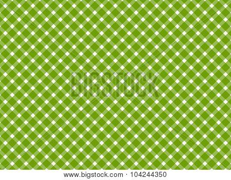 Retro Tablecloth Green White