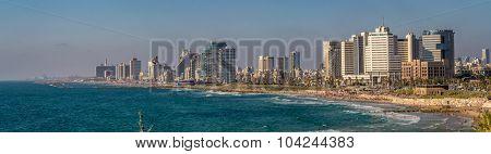 Panorama of the waterfront Tel Aviv
