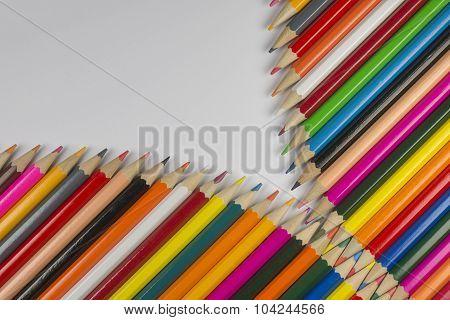 Colorful Cedar Wooden Pencils In Zipper Shape.