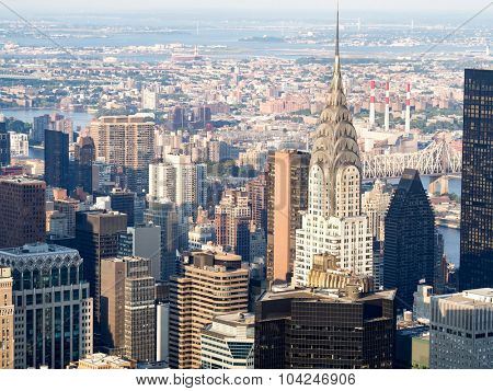 Aerial view of midtown Manhattan in New York City
