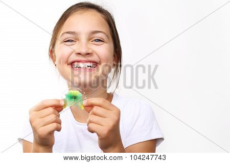 Healthy, beautiful smile, the child to the dentist.