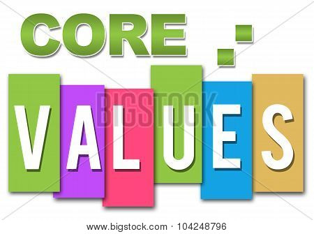 Core Values Professional Colorful