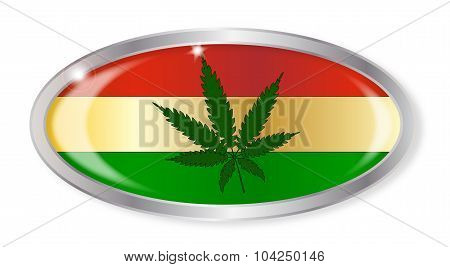 Rastafarian Flag Oval Button