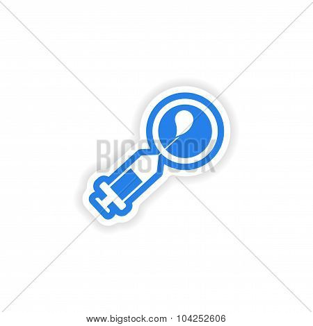 paper sticker on white background artificial insemination
