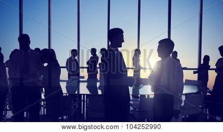 Group People Handshake Meeting Business Concept