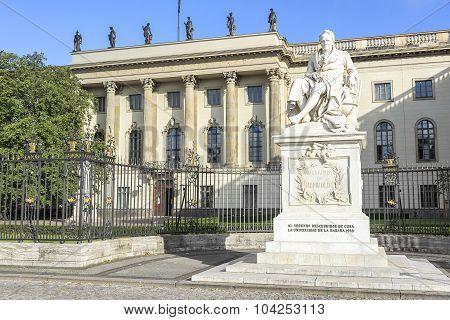 Memorial to Alexander von Humboldt.