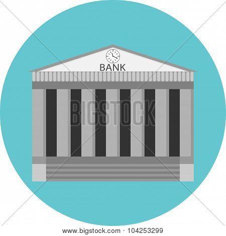 Bank Icon Flat Design