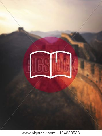 Book Icon Library Reading Dictionary Concept