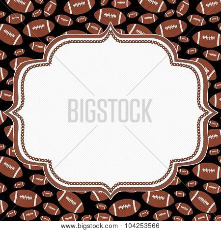 Brown And Black Football Frame Background