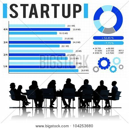 Startup New Business Growth Success Development Concept