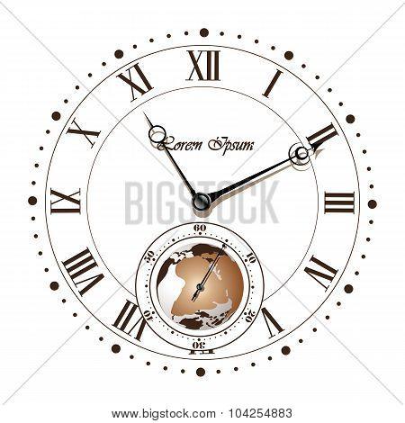 Vintage dial roman numeral clock.