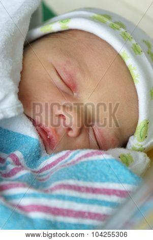 Swaddled Newborn Boy