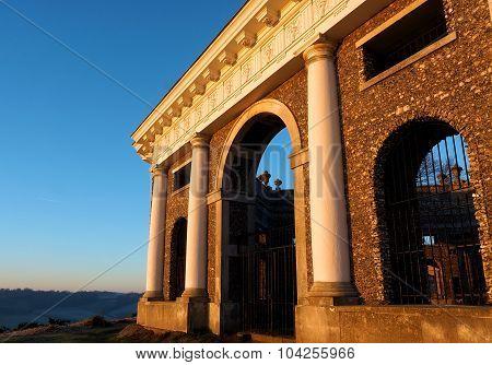 Mausoleum West Wycombe Hill Buckinghamshire UK at Sunrise