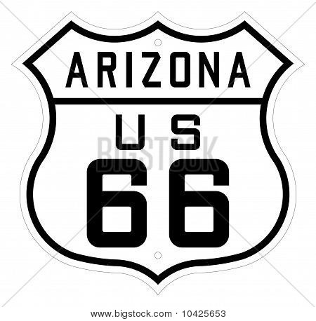 Arizona Highway Or Route 66 Sign