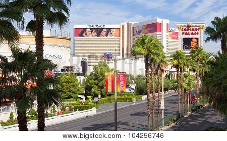 View down Las Vegas Boulevard