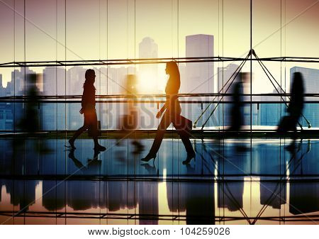 People Commuter Consumer Busy Walking Concept
