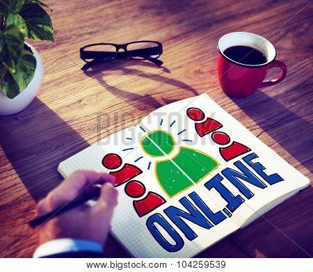 Online Connection Networking Internet Communication Concept