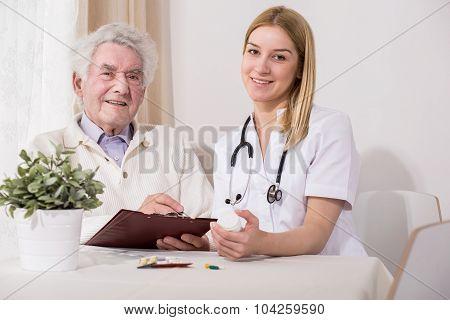 Happy Elderly Patient