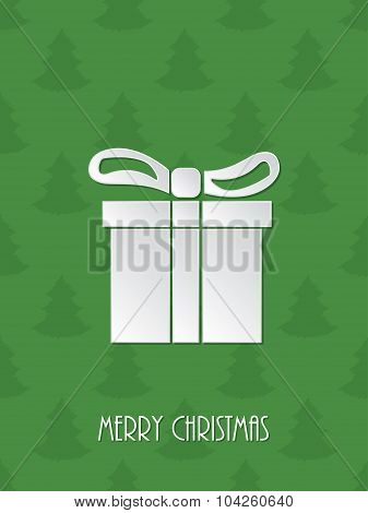 Christmas Greeting With White Giftbox