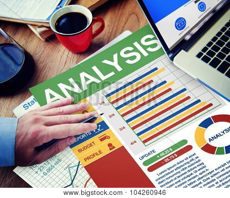 Analysis Businessman Calculating Balance Thinking Planning Paperwork Concept