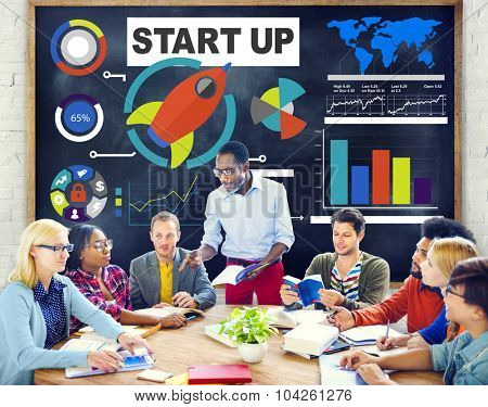 Diversity Casual People Start up Discussion Teamwork Studying Concept