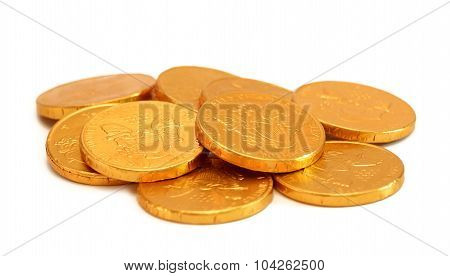 Chocolate Gold Coins.