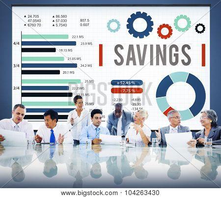 Savings Finance Budget Economy Money Save Concept