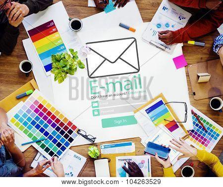 Email Online Messaging Social Media Internet Concept