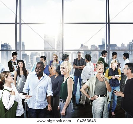 Multiethic Group of People Business Communication Office Concept